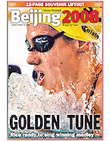 Australia's Stephanie Rice became the Golden Girl after her domination of the medley events in the pool at the Beijing Olympics. (Copyright Michael Dodge/Daily Telegraph)