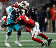 NFL football game between the Miami Dolphins and the Atlanta Falcons, Sunday, Oct. 15, 2017 in Atlanta. (Photo by Mike ZarrilliPanini)