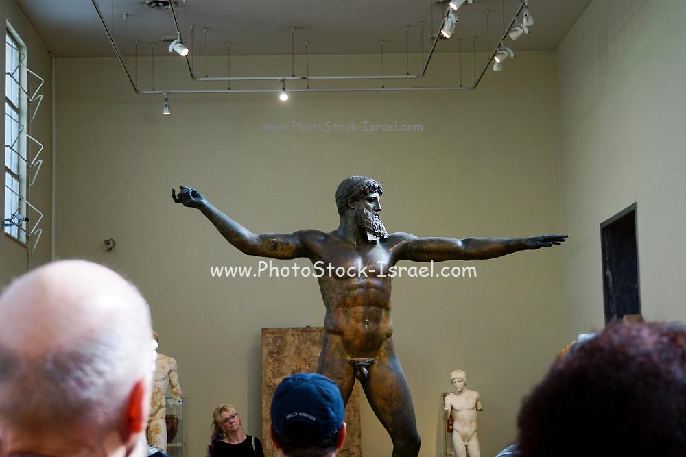 Greece, Athens, National Archaeology Museum. Statue of Poseidon