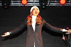 © Licensed to London News Pictures. 07/12/2016<br /> X-Factor judge Nicole Scherzinger introduces finalist Matt Terry who performed a home coming gig in Market Square,Bromley  <br /> Photo credit :Grant Falvey/LNP
