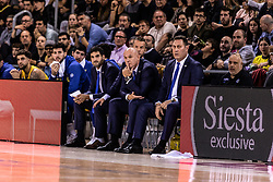 November 1, 2018 - Barcelona, Barcelona, Spain - Neven Spahija, Head coach of Maccabi Fox Tel Aviv in actions during EuroLeague match between FC Barcelona Lassa and Maccabi Fox Tel Aviv  on November 01, 2018 at Palau Blaugrana, in Barcelona, Spain. (Credit Image: © AFP7 via ZUMA Wire)