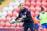 Reading goalkeeper Erin Nayler (16) during the FA Women's Super League match between Manchester United Women and Reading LFC at Leigh Sports Village, Leigh, United Kingdom on 7 February 2021.