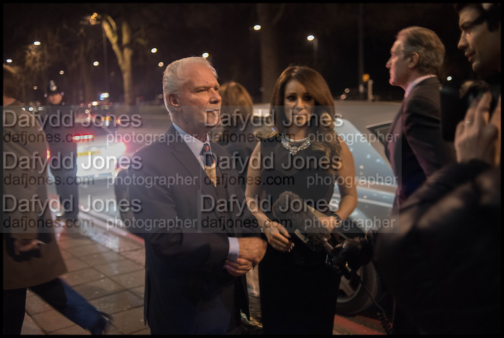 David and Jacqueline Gold , Conservative Party Black and White Ball fundraiser 2015, Grosvenor House. Park Lane, London. 9 February 2015