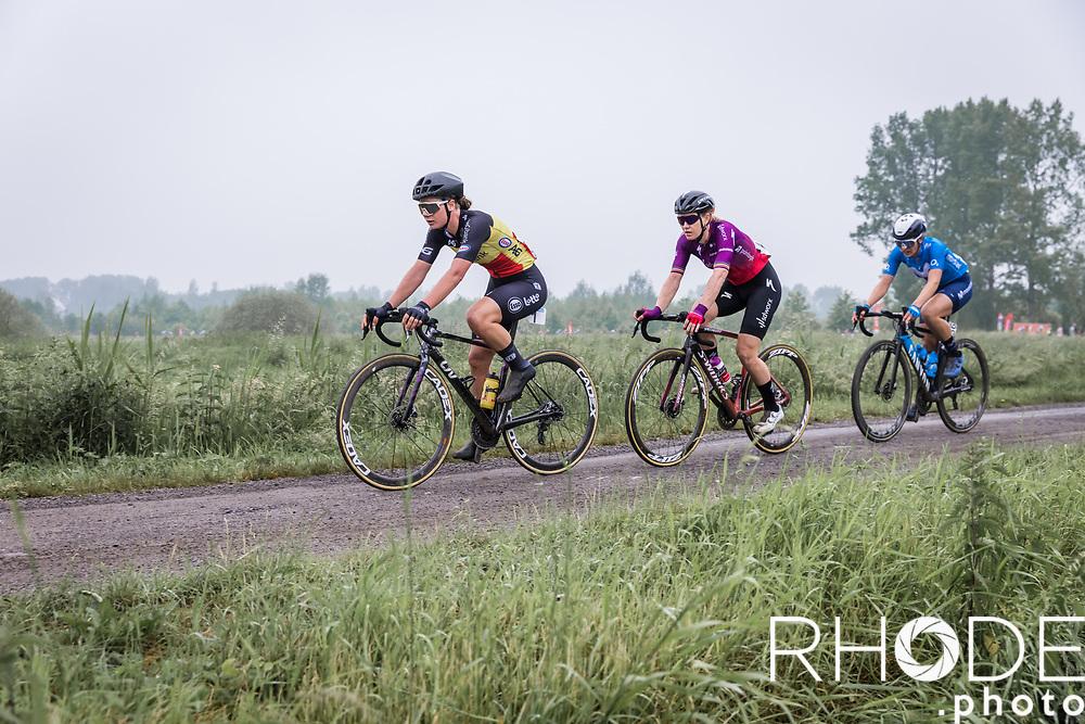 Lotte Kopecky (BEL/Liv Racing), Jolien D'Hoore (BEL/SDWorx)<br /> <br /> 1st Dwars Door Het Hageland Women Elite <br /> One Day Race: Aarschot > Diest 122km<br /> Bingoal Cycling Cup 2021<br /> <br /> ©RhodePhoto