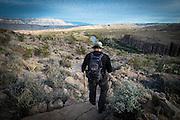 Matt Larseingue on the Hot Spring Crest Trail in Big Bend National Park on Dec. 28, 2015.