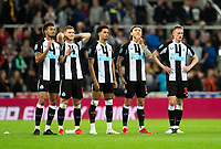 Football - 2021 / 2022  EFL Carabao Cup - Round Two - Newcastle United vs Burnley - St Jame's Park - Wednesday 25th August 2021<br /> <br /> The Newcastle players react after losing on a penalty shootout<br /> <br /> Credit: COLORSPORT/Bruce White