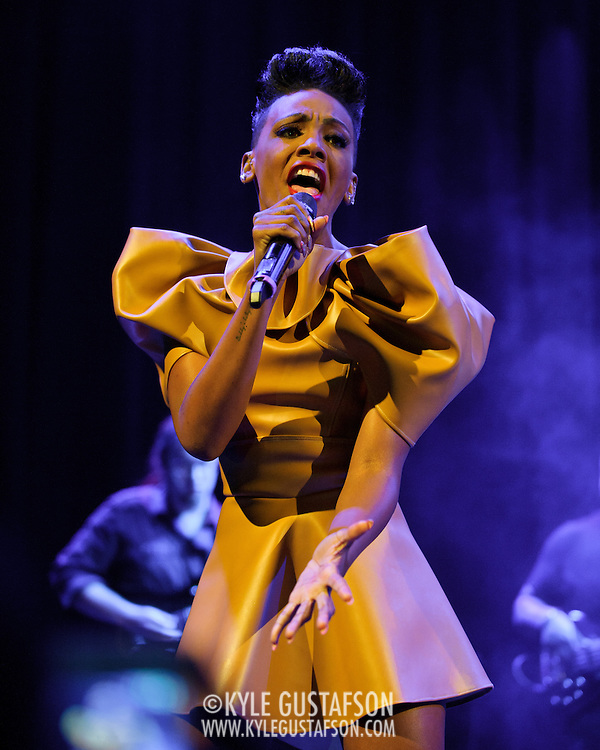 WASHINGTON, DC - May 10th,  2013 -  Former Danity Kane and Diddy - Dirty Money member Dawn Richard performs at the Howard Theatre in Washington, D.C.  Richard released her second full length album, Goldenheart, in January. It's the first of a planned three album arc dealing with love, loss, and redemption. (Photo by Kyle Gustafson/For The Washington Post)