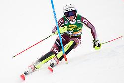 January 7, 2018 - Kranjska Gora, Gorenjska, Slovenia - Estelle Alphand of Sweden competes on course during the Slalom race at the 54th Golden Fox FIS World Cup in Kranjska Gora, Slovenia on January 7, 2018. (Credit Image: © Rok Rakun/Pacific Press via ZUMA Wire)