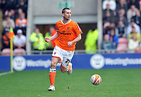 Blackpool's Shaun Barker<br /> Blackpool vs Nottingham Forest<br /> Coca Cola Championship, Bloomfield Road, Blackpool, UK<br /> 25/04/2009. Credit Colorsport/Dan Rowley