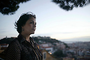 Portrait of Fado singer Joana Amendoeira. She is one of the young generation of fado singers and players that renewed the music scene in during the last years.