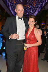 MAJOR KATE PHILP and ED PARKER co-founder of the Walking With The Wounded at Steps To The Future -in aid of RAFT (Restoration of Appearance & Function Trust) and Walking With The Wounded held at The Hurlingham Club, London on 28th November 2014.