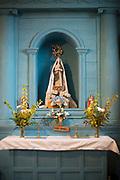 The altar at the church of Nuestra Señora de Gracia de Nercón. Chiloe,Chile.