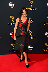 September 18, 2016 - Los Angeles, CA, USA - Amy Landecker arrives at the 68th Annual Emmy Awards at the Microsoft Theater in Los Angeles, California on Sunday, September 18, 2016. (Credit Image: © Michael Owen Baker/Los Angeles Daily News via ZUMA Wire)
