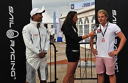 Hannah White interviews Joakim Berne from Sail Racing. Photo: Chris Davies/WMRT