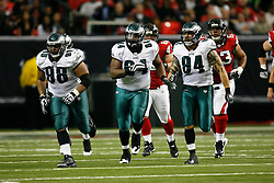 Philadelphia Eagles Antonio Dixon #64 during the NFL game between the Philadelphia Eagles and the Atlanta Falcons on December 6th 2009. The Eagles won 34-7 at The Georgia Dome in Atlanta, Georgia. (Photo By Brian Garfinkel)
