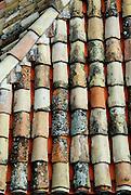Old roof tiles, Dubrovnik old town, Croatia