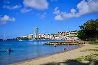 France, Martinique, Fort-de-France, centre ville, la plage la Française // France, West Indies, Martinique, Fort-de-France, small beach