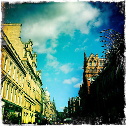 Buchanan Street, Glasgow..Hipstamatic images taken on an Apple iPhone..©Michael Schofield.
