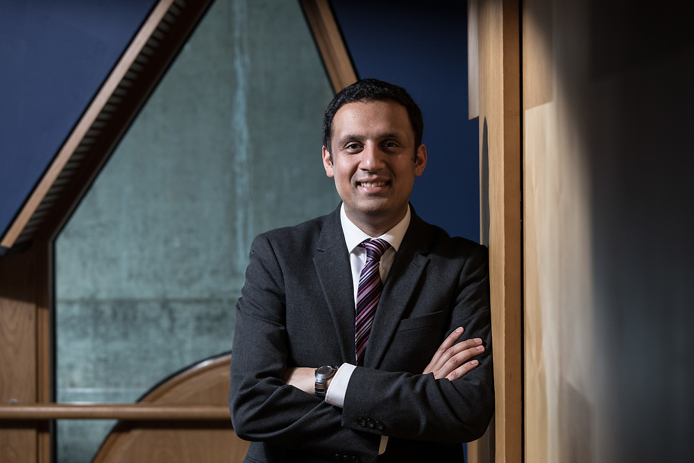 Editorial photograph of Anas Sarwar Scottish Labour Party at Holyrood Parliament. Member of Scottish Parliament