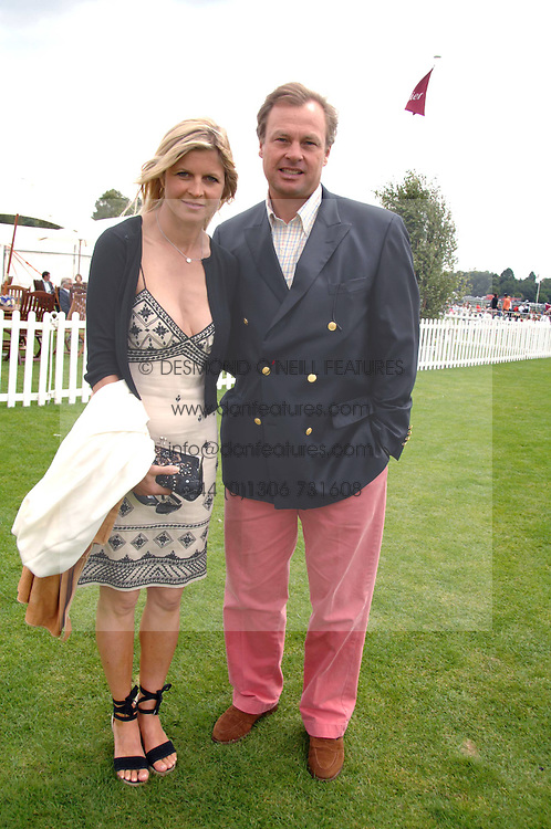 The MARQUESS & MARCHIONESS OF MILFORD HAVEN at the Cartier International polo at Guards Polo Club, Windsor Great Park on 29th July 2007.<br /><br />NON EXCLUSIVE - WORLD RIGHTS