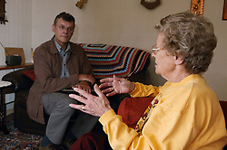 Welfare rights worker listening to Service User expressing an opinion,