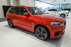 NEW YORK, USA - MARCH 24, 2016: BMW X5 M on display during the New York International Auto Show at the Jacob Javits Center.