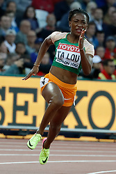 Ivory Coast's Marie-Josee Ta-Lou in the first round of the 200 meters women during the IAAF World Athletics 2017 Championships In Olympic Stadium, Queen Elisabeth Park, London, UK on August 8, 2017 Photo by Henri Szwarc/ABACAPRESS.COM
