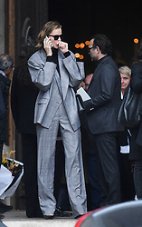 Eva Herzigova leaving the funeral service for late photographer Peter Lindbergh held at Saint Sulpice church in Paris, France on September 24, 2019. Photo by ABACAPRESS.COM