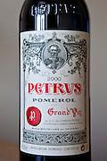 Chateau Petrus Grand Vin 2000 millennium vintage at Pomerol in the Bordeaux wine region of France