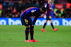 January 20, 2019 - Barcelona, BARCELONA, Spain - 14 Malcom of FC Barcelona with some muscular disconforms during the Spanish championship La Liga football match between FC Barcelona and CD Leganes on 20 of January 2019 at Camp Nou stadium in Barcelona, Spain (Credit Image: © AFP7 via ZUMA Wire)