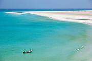 Fishermen working in the shores of Qalansia, Socotra, Yemen