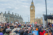 Jeremy Corbyn speeks - A march against cuts to and potential privatisation of the NHS starts in Tavistock Square and heads for Parliament Square. The march was organised by the peoples assembly and supported by most major unions and the Labour Party.
