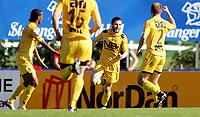 Fotball - Bryne Stadion<br />Adecco ligaen  2007 - <br />10.06.2007  -<br />Bryne - Bodø Glimt<br /><br />Foto: Sigbjørn Andreas Hofsmo, Digitalsport <br /><br />Mounir Hamoud jubler etter scoring