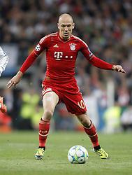 25-04-2012 VOETBAL: HALVE FINALE CL REAL MADRID - BAYERN MUNCHEN: MADRID<br /> Arjen Robben during UEFA Champions League match<br /> ©2012-FotHoogendoorn.nl-nph/Alvaro Hernandez