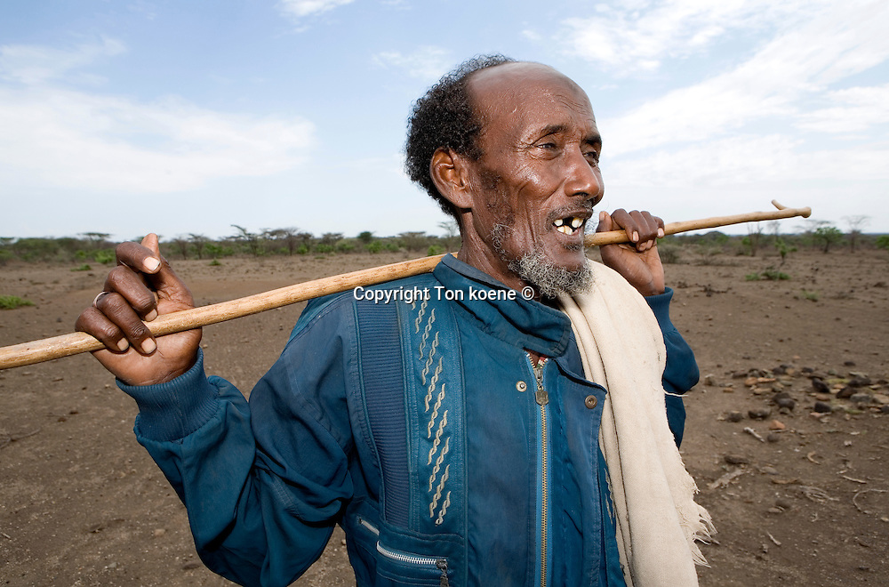 Ethiopian nomads and live from cattle farming.