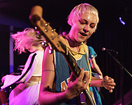 Alice Go of British-Icelandic punk-rock band Dream Wife at Blue Shell in Cologne