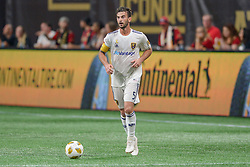 September 22, 2018 - Atlanta, GA, U.S. - ATLANTA, GA Ð SEPTEMBER 22:  Real Salt Lake's Kyle Beckerman (5) brings the ball up the field during the match between Atlanta United and Real Salt Lake on September 22nd, 2018 at Mercedes-Benz Stadium in Atlanta, GA.  Atlanta United FC defeated Real Salt Lake by a score of 2 to 0.  (Photo by Rich von Biberstein/Icon Sportswire) (Credit Image: © Rich Von Biberstein/Icon SMI via ZUMA Press)