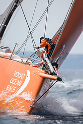Team Alvimedica practicing two days before the start of the in-port race in Alicante, 2-10-1014, Alicante  - Spain.
