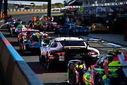 June 10-16, 2019: 24 hours of Le Mans. 91 PORSCHE GT TEAM, PORSCHE 911 RSR, Richard LIETZ,  Gianmaria BRUNI, Frédéric MAKOWIECKI , morning warmup