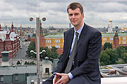 Moscow, Russia, 26/07/2007..Russian billionaire Mikhail Prokhorov, currently rated 89th richest man in the world, known for a playboy reputation and frequently described as Russia's most eligible bachelor..