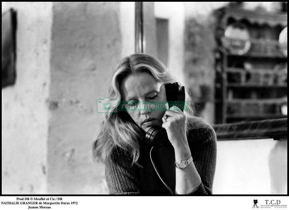 July 31, 2017 - France - Prod DB © Mouflet et Cie / DR.NATHALIE GRANGER (NATHALIE GRANGER) de Marguerite Duras 1972 FRA.avec Jeanne Moreau.téléphoner (Credit Image: © Visual via ZUMA Press)