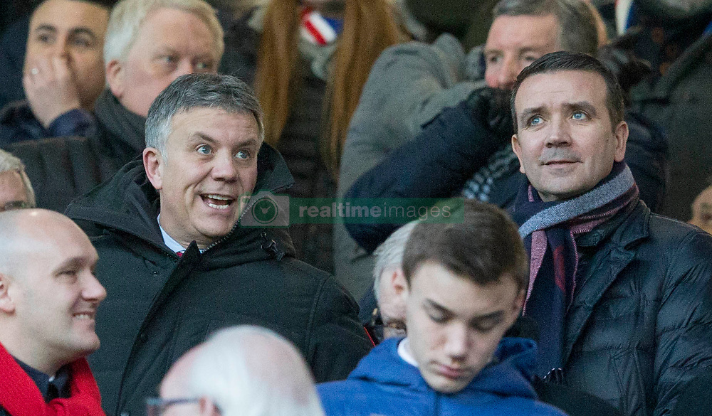 Mark Allen and Andrew Dickson during the Ladbrokes Scottish  Premiership match at the Ibrox Stadium, Glasgow