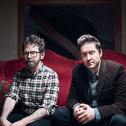 "Paris, France. January 20, 2016. Charlie Kaufman and Duke Johnson posing at the Hotel de l'Abbaye. They co-directed the movie ""Anomalisa"". Photo: Antoine Doyen"