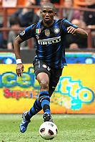 """Samuel ETO'O Inter<br /> Milano 23/4/2011 Stadio """"San Siro - Giuseppe Meazza""""<br /> Football / Calcio Campionato Italiano Serie A 2010/2011<br /> Inter Vs Lazio<br /> Foto Andrea Staccioli Insidefoto"""