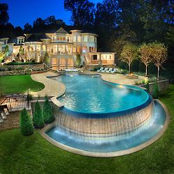 8541 Horseshoe_Pool_2 swimming pool Swimming pool House rear exterior Deck patio Verandah Porch Pool pool house