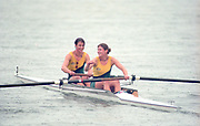 Tampere Kaukajaervi,  FINLAND.   Women's Pair AUS W2- Kate SLATTER and Meagan STILL, competing at the 1995 World Rowing Championships - Lake Tampere, 08.1995<br /> <br /> [Mandatory Credit; Peter Spurrier/Intersport-images] Re-Edited and file ref No. updated, 16th January 2021.