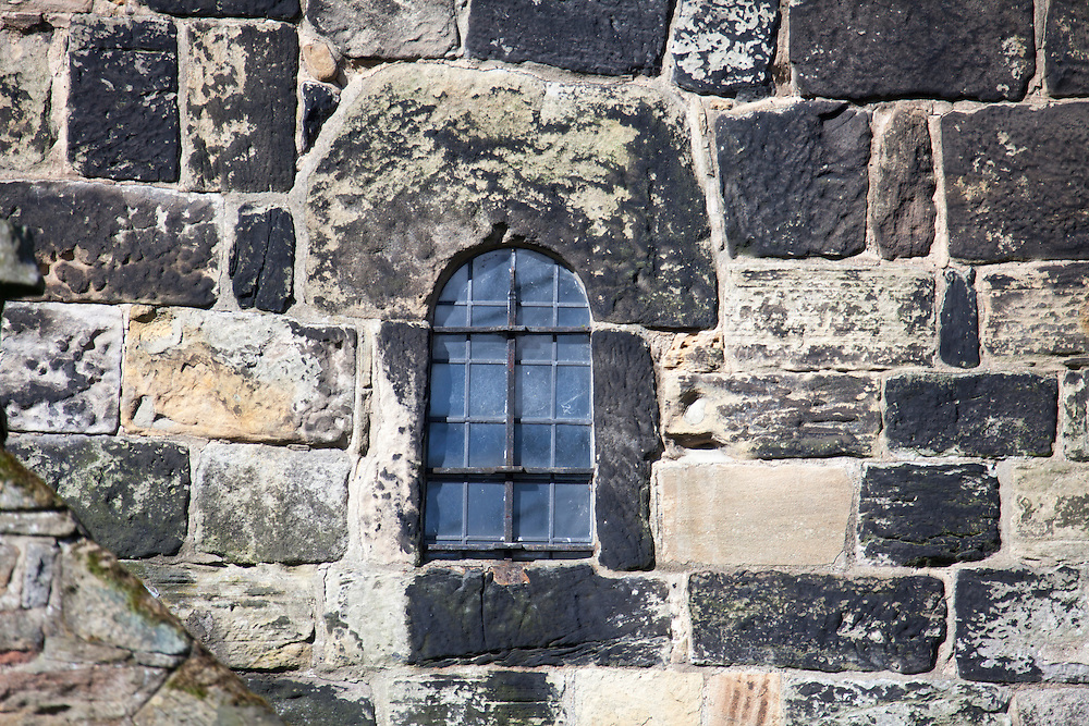 Anglo Saxon window at the 7th century Anglo Saxon Church at Escomb, County Durham, UK