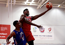 Leslee Smith of Bristol Flyers attempts a slam dunk - Mandatory by-line: Robbie Stephenson/JMP - 08/09/2016 - BASKETBALL - SGS Arena - Bristol, England - Bristol Flyers v USA Select - Preseason Friendly