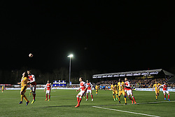 20 February 2017 - The FA Cup - (5th Round) - Sutton United v Arsenal -A general view (GV) of Gander Green Lane as play unfolds late in the 2nd half - Photo: Marc Atkins / Offside.