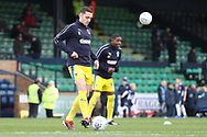 AFC Wimbledon midfielder Anthony Hartigan (8) warming up during the EFL Sky Bet League 1 match between Southend United and AFC Wimbledon at Roots Hall, Southend, England on 16 March 2019.